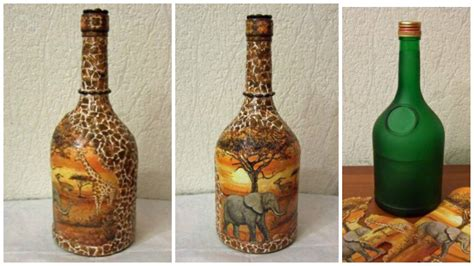 decoracion de botellas de vidrio con servilletas aprende c 243 mo decorar botellas con servilletas de decoupage