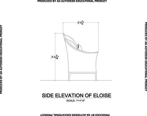 Sofa Side Elevation