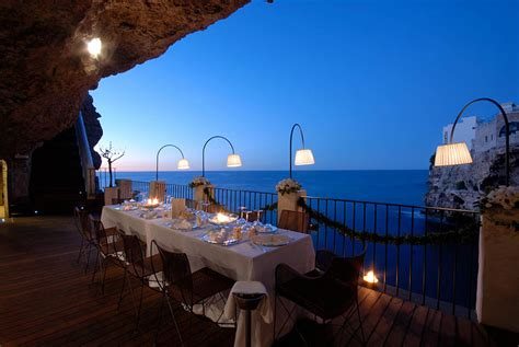 hotel ristorante grotta palazzese restaurant built inside an italian cave let s you dine