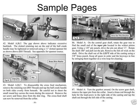 Rebuild Book Amp Parts Kit For 9 South Bend Lathe Model C