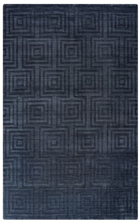 10 X 14 Charcoal Rug - uptown faded concentric squares wool area rug in charcoal