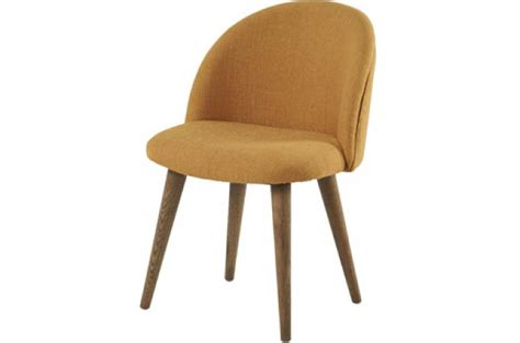 chaise kolding moutarde chaise design pas cher