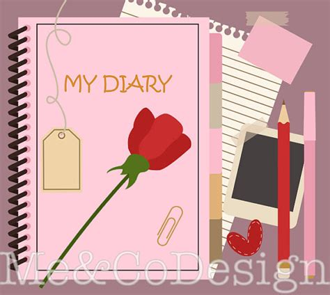 My Diary my diary clipart pretty clipart stationary planner