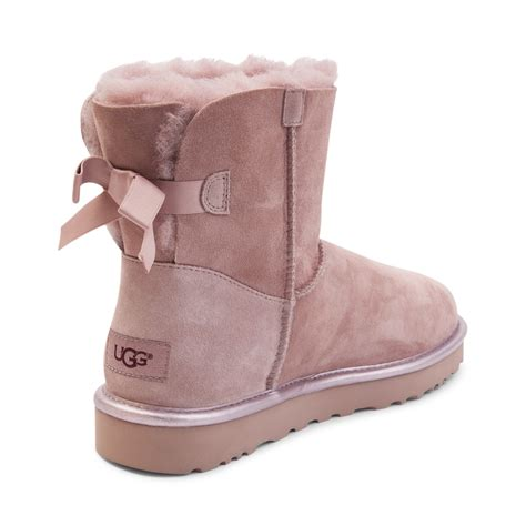 Light Pink Bailey Bow Uggs by Womens Ugg 174 Mini Bailey Bow Ii Boot Pink 581747