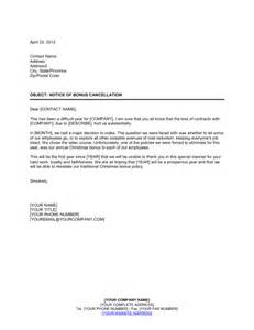 Annual Leave Cancellation Letter Sample Notice To Employees Of Bonus Cancellation Template