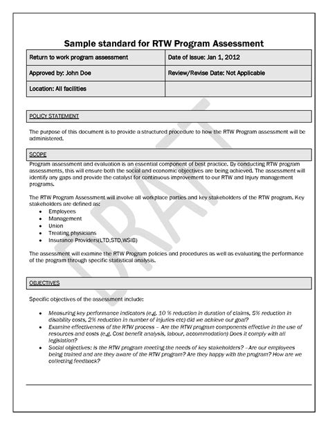 Policies And Procedures Template Cyberuse Free Workplace Policy Template