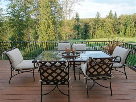cast aluminum patio furniture cast aluminum patio furniture hgtv