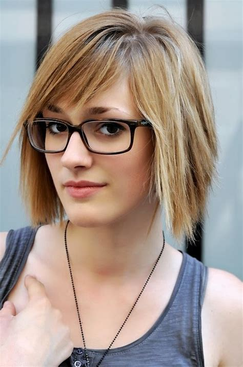 cute hairstyles for glasses cute short layered haircuts for female