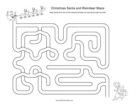 christmas tree maze free coloring pages for kids christmas mazes for kids santa reindeer xmas tree angel
