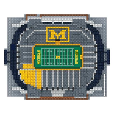 is sports fan island legit michigan wolverines ncaa 3d brxlz puzzle stadium blocks