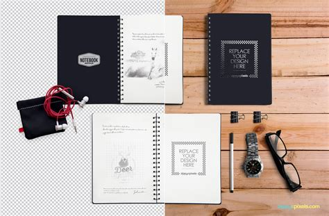 design mockup online free notebook mockup zippypixels