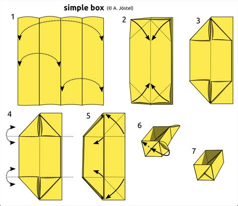 Basic Origami Box - origami diagrams 169 a j 246 stel