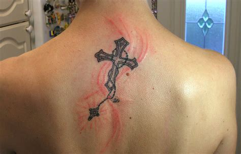 girly cross tattoos