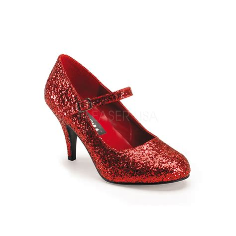 high heels slippers costume shoes dorothy oz glitter 3