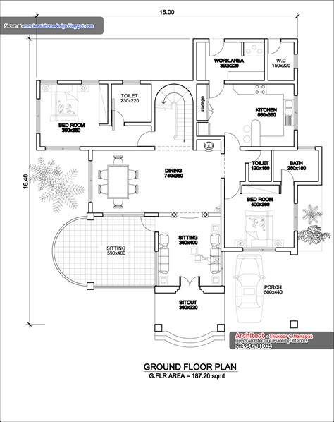 kerala home floor plans kerala home plan elevation and floor plan 3236 sq ft