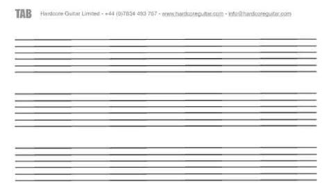 tab templates for word blank tablature for guitar pdf version free software