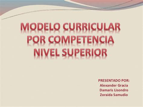 Modelo Curricular Por Objetivos modelo curricular panama