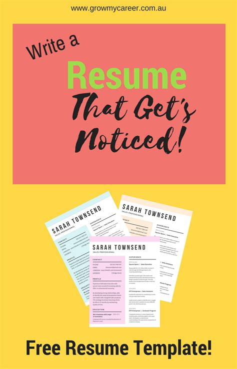 Best Resume For Interview by Free Resume Template Get A Job Interview With This