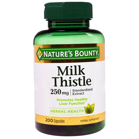 Side Effects Of Milk Thistle Detox by Nature S Bounty Milk Thistle 250 Mg 200 Capsules
