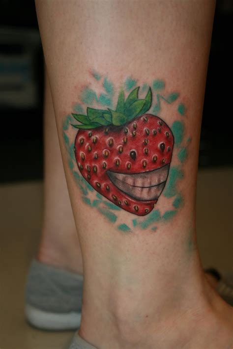 strawberry tattoos fruit tattoos