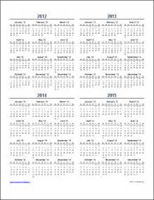 5 year calendar template yearly calendar template for 2016 and beyond