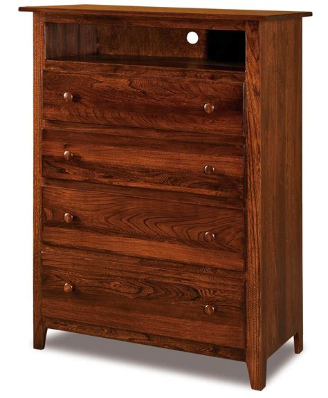 Media Chest With Drawers shaker 4 drawer media chest amish direct furniture