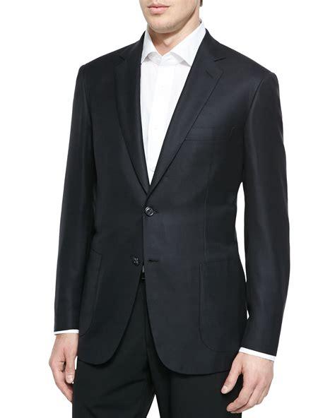 Vest Blazer Black brioni wool twill blazer jacket in black for lyst