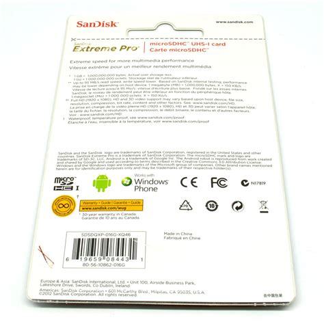 Sandisk Pro Microsdhc Card Uhs I Class 10 95mb S 16g Murah sandisk pro microsdhc card uhs i class 10 95mb s 16gb sdsdqxp 016g xq46
