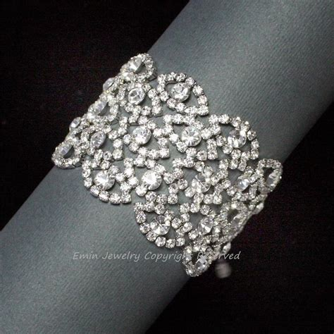 Hochzeitsschmuck Armband by Armband Strass Hochzeit Hochzeits Armreif Vintage Style
