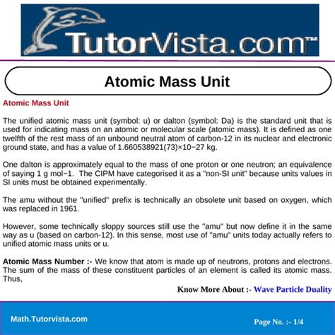 the mass of 12 protons is approximately equal to atomic mass unit pdfsr
