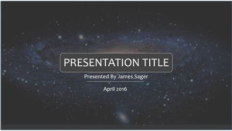 Free Space Powerpoint Template 7879 Sagefox Powerpoint Templates Themed Powerpoint Template