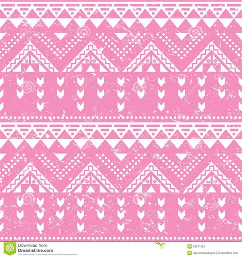 aztec pattern in pink tribal pattern pink aztec print old grunge stock