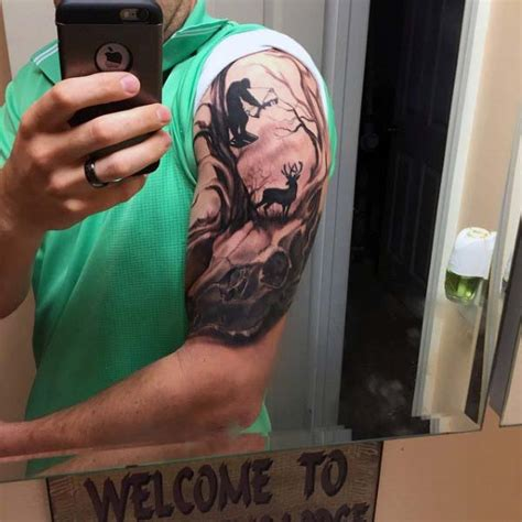 bow hunting tattoos for men 50 archery tattoos for bow and arrow designs