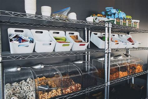 ideas snack bar startup offices office snacks snack bar snack station