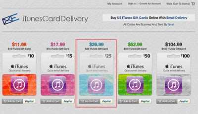 How To Buy An Itunes Gift Card With Paypal - how to buy an itunes gift card online photo 1