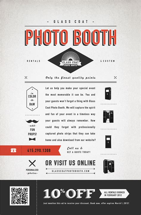 Photo Ad Glass Coat Photo Booth Print Ad On Behance