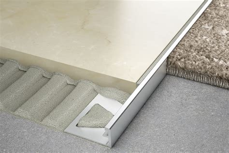 tile edging schluter 174 schiene same height transitions for floors profiles schluter