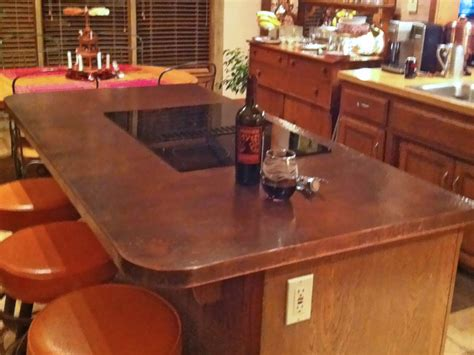 hammered copper bar top copper countertops top copper countertops with copper