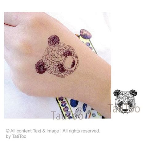 panda express tattoo panda style etsy and temporary tattoos