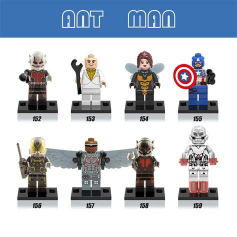 Mainan Lego Heroes Xinh 2 lepin antman captain iron batman fiugres heroes marvel building blocks