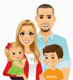 clipart famiglia a family of 4 clipart clipartxtras