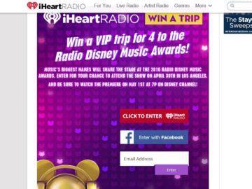 Radio Disney Music Awards Sweepstakes - iheartradio radio disney music awards sweepstakes