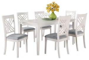Dining Table With White Chairs Standard Furniture White Rectangular Dining Table With 6 Chairs Traditional Dining
