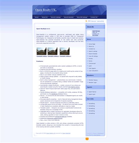 open realty sle templates