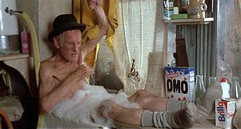 old man bathroom old man steptoe taking a bath in the kitchen sink