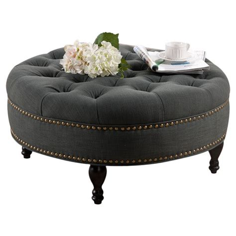 tufted round ottoman round tufted ottoman home sweet home pinterest
