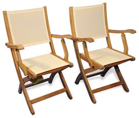 Teak Folding Chairs by Teak Folding Providence Chair With Batyline Set Of