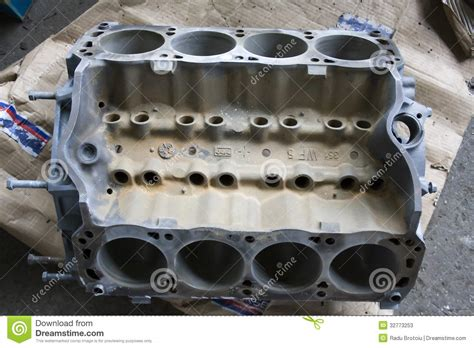 mustang  engine block stock  image