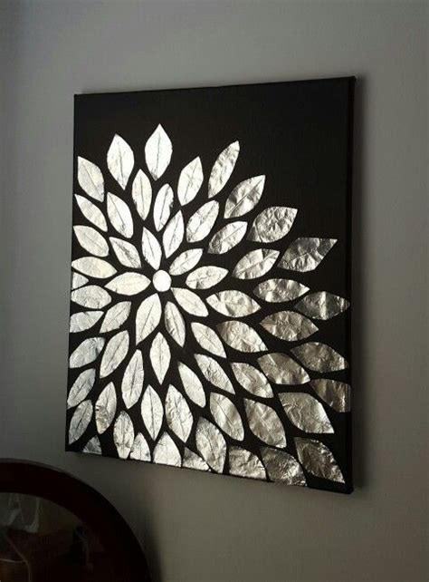 framed flowers on copper sheet craft ideas pinterest diy wall art blank canvas aluminum foil and mod podge