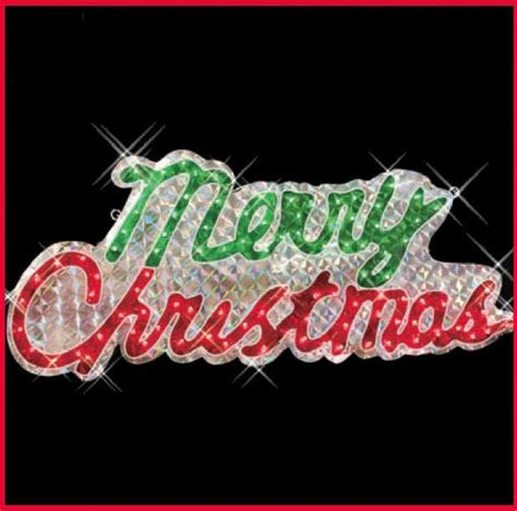 large merry christmas sign holographic lights indoor outdoor decoration ebay
